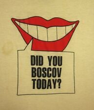 DID YOU BOSCOV TODAY beat-up T shirt 1980s lrg tee Boscov's department store