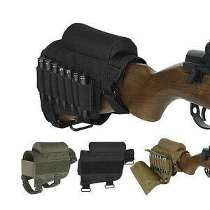 Hunting-Tactical-Buttstock-Cheek-Rest-w-Ammo-Carrier-Case-Holder-For-300-308