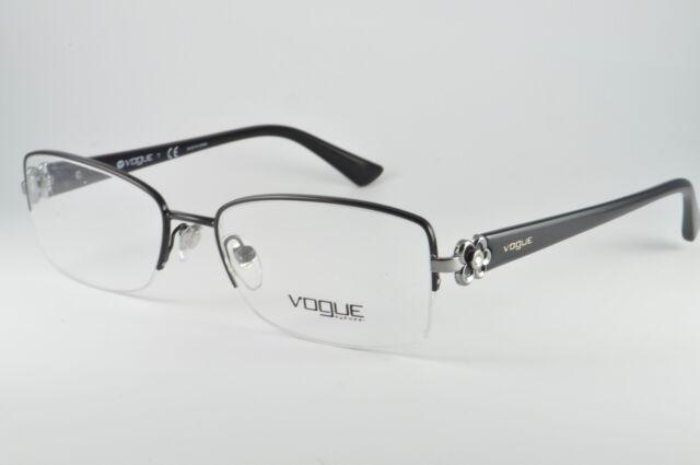 Vogue VO 3875-b 352 Black Half Rim RX DESIGNER Eyeglasses Frames 54 ...