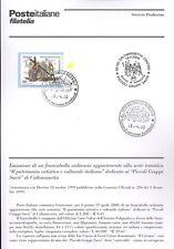 ITALIA 2000 ARTISTICO CALTANISSETTA  BOLLETTINO COMPLETO DI FRANCOBOLLI FDC
