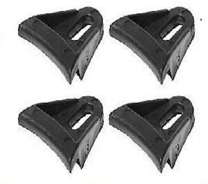 "4 NEW SPEAKER GRILL CLIPS PLASTIC WAFFLE SUBWOOFER - FITS 6"" 8"" 10"" 12"" 15"" 18"""