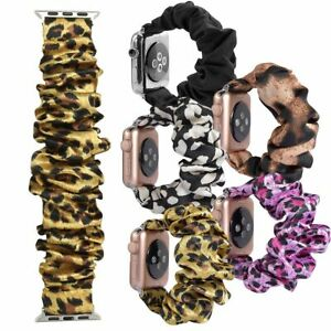 Scrunchie Soft Fashion Loop Band Strap For Apple Watch iWatch Series SE 6 5 4 3