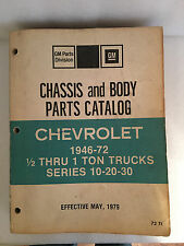 1946-1972-Chevrolet-1/2 Ton-Trucks Chassis and Parts Catalog C10, C20, C30