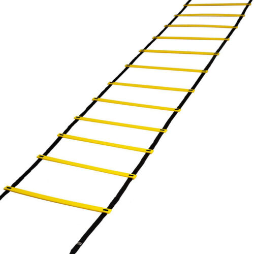 12 Rung Speed Agility Ladder Soccer Sport Ladder Workout Training w// Carry Bag