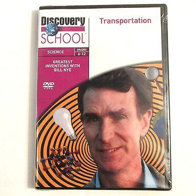 Bill Nye TRANSPORTATION DVD Discovery School Science Grades 6-12 Teacher Parent