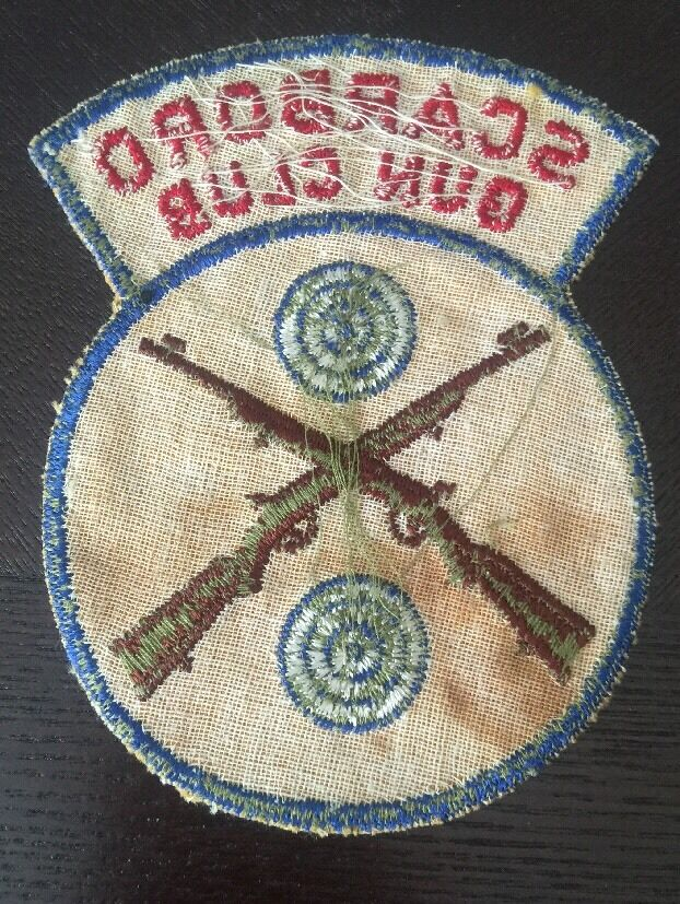 RARE Maine Early Scarboro Scarborough Maine RARE Gun Club NRA Shooting Rifle Patch LOOK 512ed0