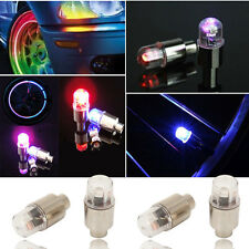 4pcs Flash LED Wheel Tyre Tire Valve Caps Neon Light Bike Car Motorcycle Bicycle