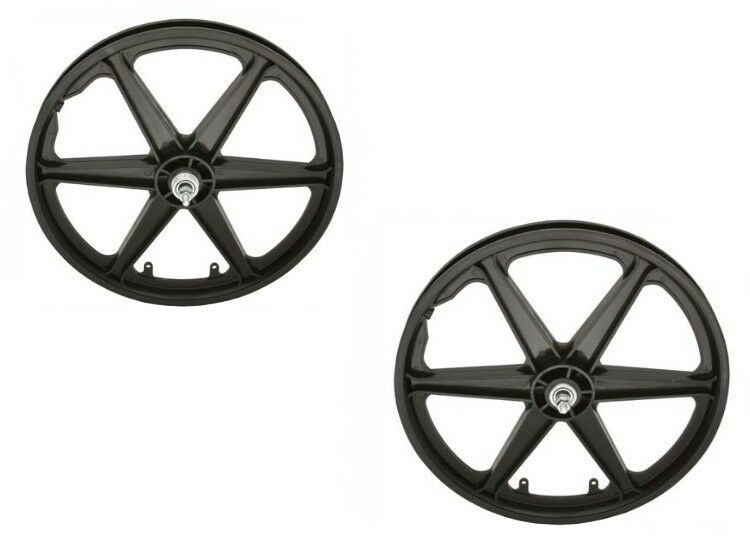 20  BMX MAG Plastic 6 spokes Front & Rear Freewheel wheel