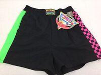 Vintage 80's Gitano Wave Fluorescent Women's Size Medium Nylon Shorts 2502
