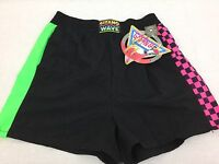 Vintage 80's Gitano Wave Fluorescent Women's Size Medium Nylon Shorts 2502