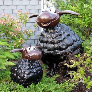 Details Zu Deko Schafe Wölkchen Schwarz Groß Klein Original Dw Collection Figuren Garten