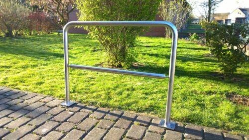 mit Bodenplatten Mo City Premium NEU Edelstahl Fahrradständer Anlehnbügel