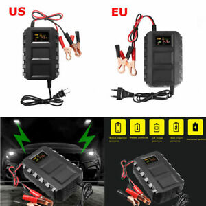 Portable Motorcycle Car Battery Charger Intelligent Adapter 12V 20A Smart Battery Charger Battery Charger and Maintainer