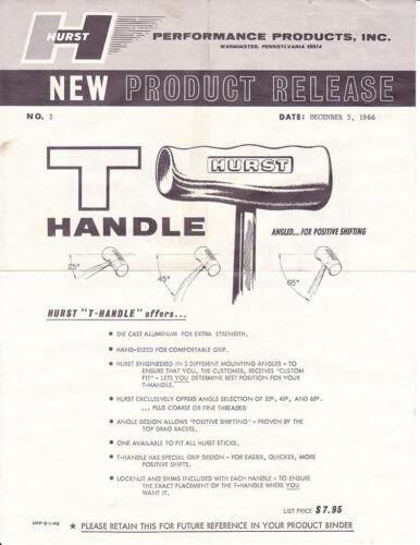 HURST Brushed Aluminum T-Handle 12mm x 1.25 for Toyota Pickup Tacoma 4Runner FJC