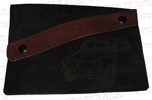 foto ufficiali 05b07 0eadc Dettagli su Portadocumenti portalibretto pelle auto Fiat Seicento 600  vintage prima serie