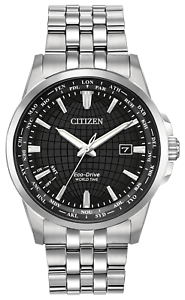 Citizen-World-Time-Eco-Drive-Watch-BX1000-57E-Black-Dial-Brand-New-No-Tags