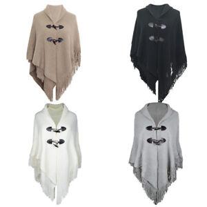 Fashion-Women-Ladies-New-Sleeveless-Knitted-Waistcoat-Shawl-Poncho-Cape-Cardigan