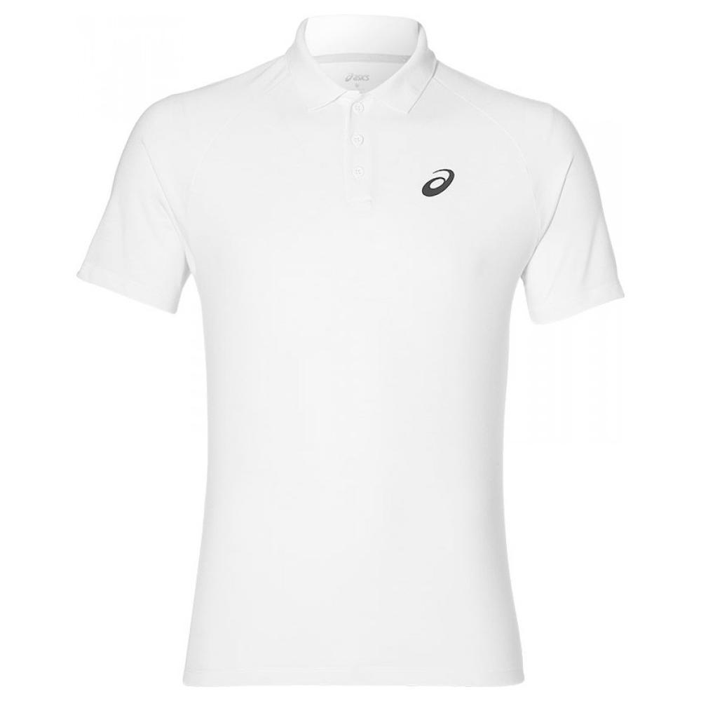 ASICS Men's Polo Shirt Sports Tennis Club Polo Shirt - Real White - New