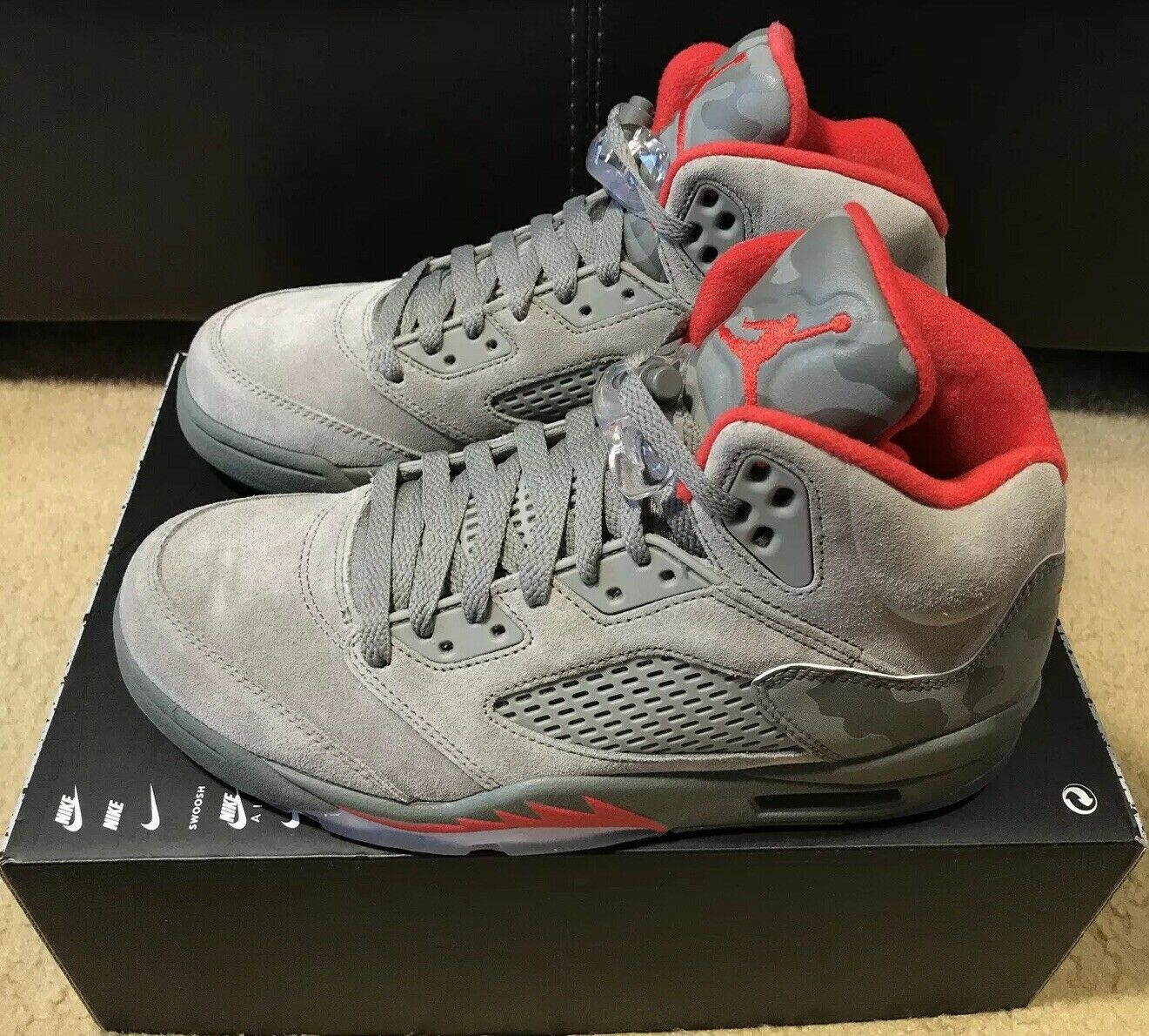 official photos 11621 65ab5 Nike Air Jordan 5 Retro Reflective Reflective Reflective Camo Men s sz 8 Dark  Stucco Red 136027 051 b173d1
