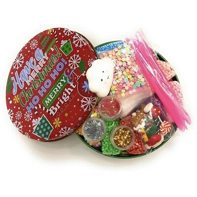 Confetti Squishy /& Tools Christmas Slime Supplies Kit DIY: Foam Beads Charms