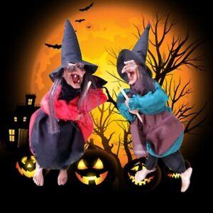 Hangende Animierte Sprechende Hexe Requisiten Lachen Sound Control Halloween Dekoration Usa Ebay