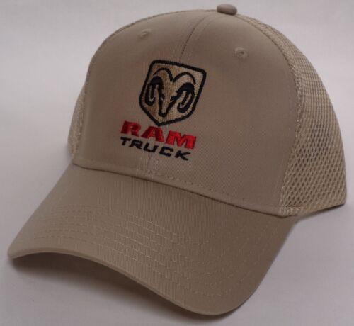 Hat Cap Licensed Dodge RAM Truck Trucks Mesh Tan HR 247
