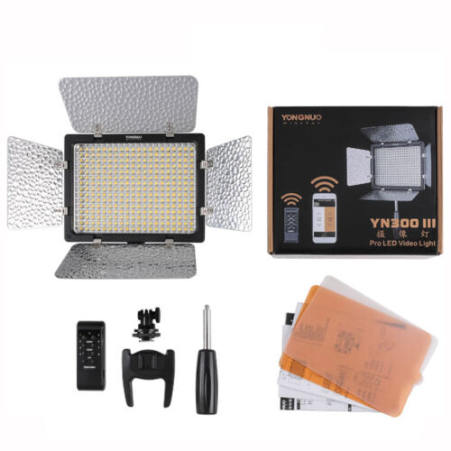 Battery /& Charger YN-300 III LED Video Light 3200K-5500K for Canon Nikon DSLR