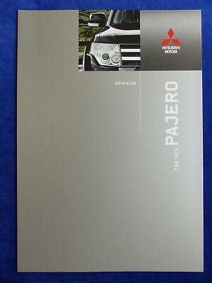 2019 Neuer Stil Mitsubishi Pajero 3.8 V6 - Prospekt Brochure Europe 2007 Englisch