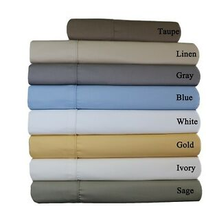 Wrinkle-Free-Bed-Sheet-Sets-650-Thread-Count-Solid-Cotton-Deep-Pockets-Sheets