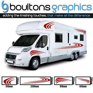 MOTORHOME STRIPES Camper Van RV Decals Horsebox Caravan Stickers - Graphics for caravanscaravan stickers ebay