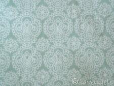 0,5 m Stoff Ökotex ♥ Baumwolle Blumen grün hellgrün ♥ Poppy Ornamente blassgrün