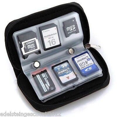 SD Speicherkarten Etui Tasche Case Box Hülle Speicher für 6 Karten Schwarz