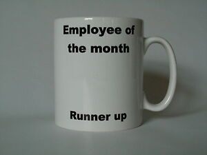 Image Is Loading Novelty Mug Employee Of The Month Runner Up