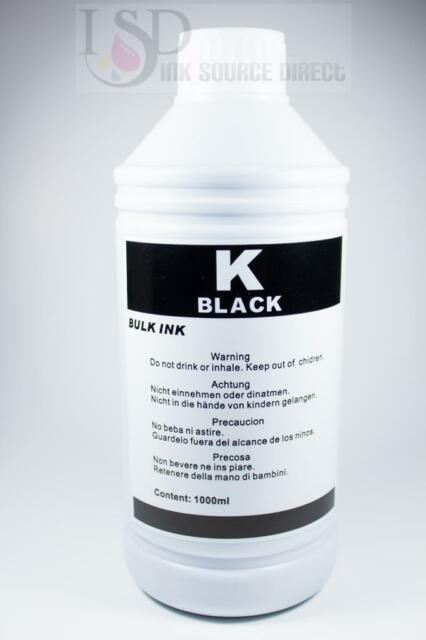 34oz (1000ml) Black Refill ink for HP 21 56 27 60 61 92 94 96 74 901 XL Series