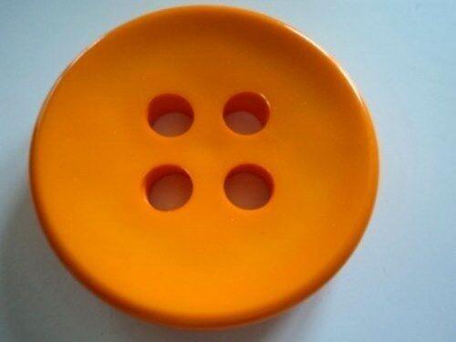 muy grande Payaso 4 Agujero Plástico sólido Botones italiano-Lote De Color B654-38mm 3 un