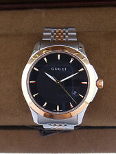 418819cbce2 Gucci Watch G Timeless Black Dial Date YA126410 Men s for sale ...
