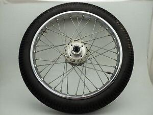 Honda-CB360-CB-360-6126-Chrome-Front-Wheel-amp-Tire