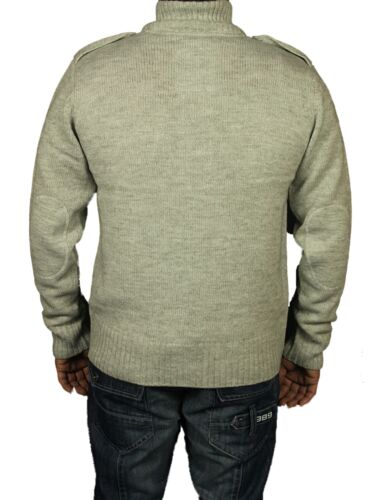 Mens Brand New Dessident Cardigans Grey Navy Designer Buttoned Sweater S XL