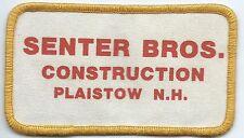 Senter Bros. Construction Plaistow, NH advertising patch 2-3/8 X 4-1/4