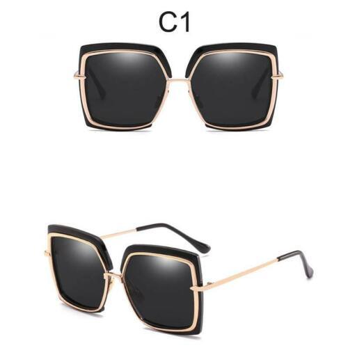 Gafas de sol de gran tamaño para mujer de marca de diseñador de metal Square Gafas 2019 nuevo Hembra S
