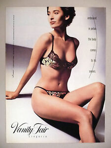 d108924972b59 Image is loading Vanity-Fair-Lingerie-PRINT-AD-1990-bra-panty-