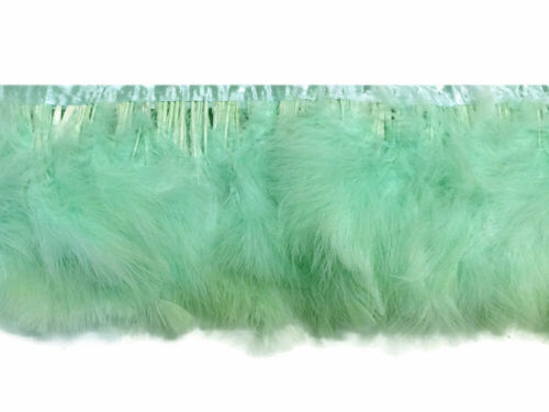1 Yard Aqua Green Marabou Turkey Fluff Feather Fringe Trim Prom Party Wedding