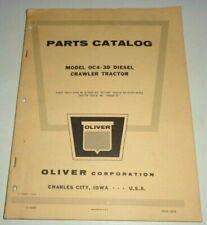 Oliver Oc4 3d Crawler Tractor Parts Catalog Book Original October 1960 Dealers