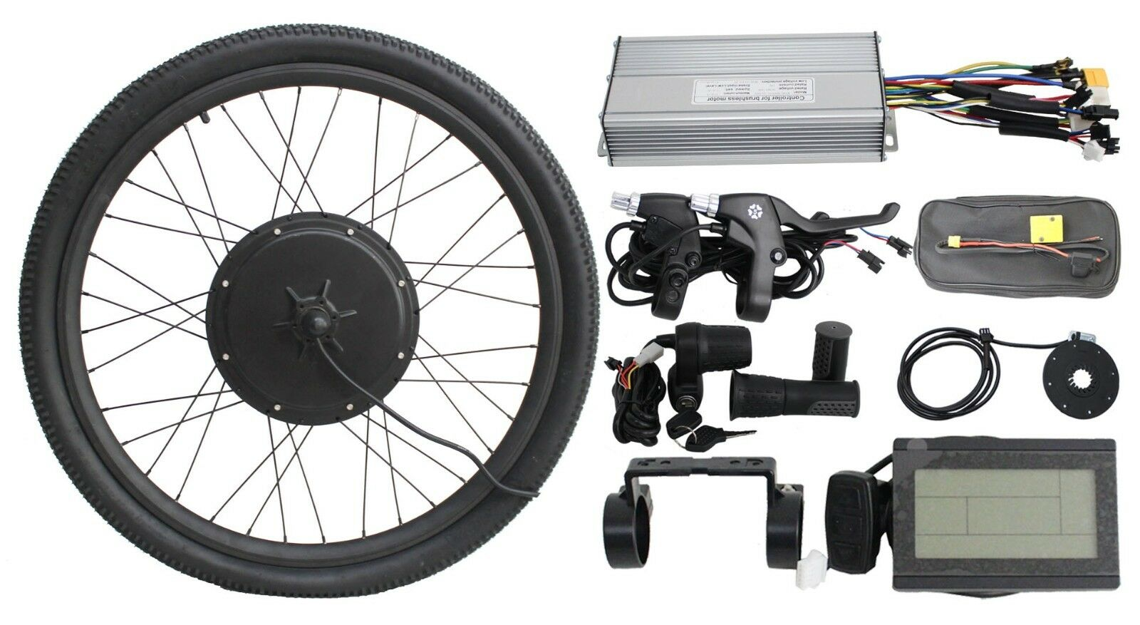 Fast  shipping 36V1000W 48V 1200w Front Wheel Ebike Conversion Kit brakes lcd3  save on clearance