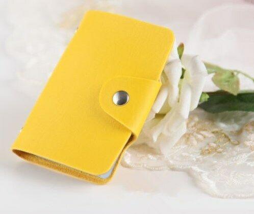 En cuir synthétique de crédit ID Business Porte-carte poche portefeuille sac à main 24 cartes AC1010