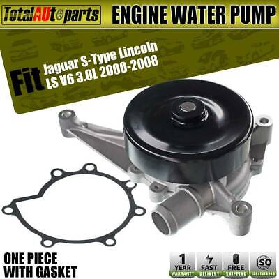 Engine Water Pump with Gasket for Lincoln LS 2003-2005 Jaguar S-Type 2000-2008 V6 3.0L