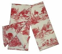 Toile French Country Dish Towel, Set Of 2 Red, New, Free Shipping