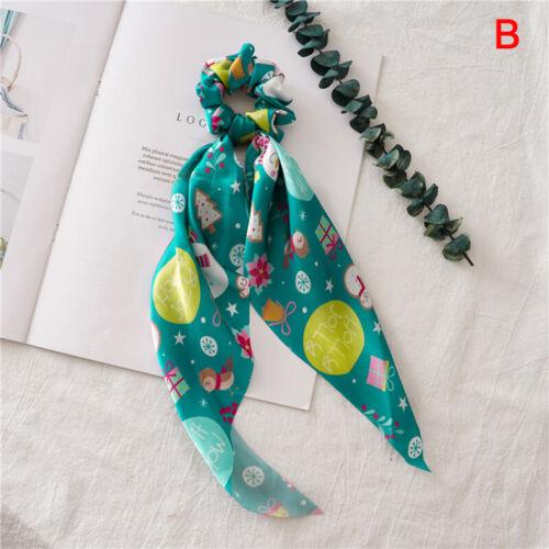 Christmas Headwear DIY Bow Streamers Hair Scrunchies Ribbon Hair Ties Head Wrap√