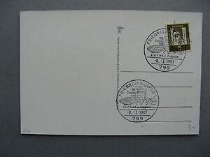 GERMANY BRD, eventcard 1967,  canc. Friedrichshaven Graf Ferd. v. Zeppelin