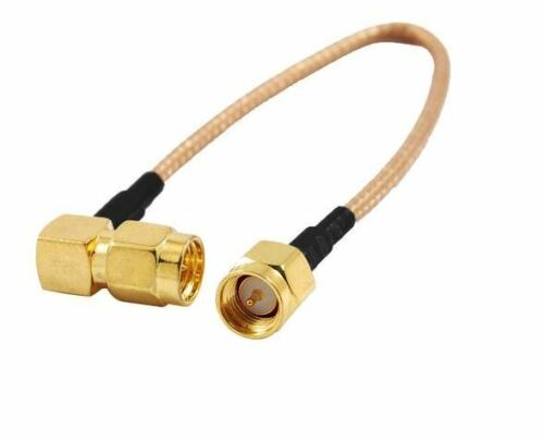 "SMA Male to SMA Right Angle Male Plug 6/"" Jumper Pigtail Cable RG-316 UK Seller"